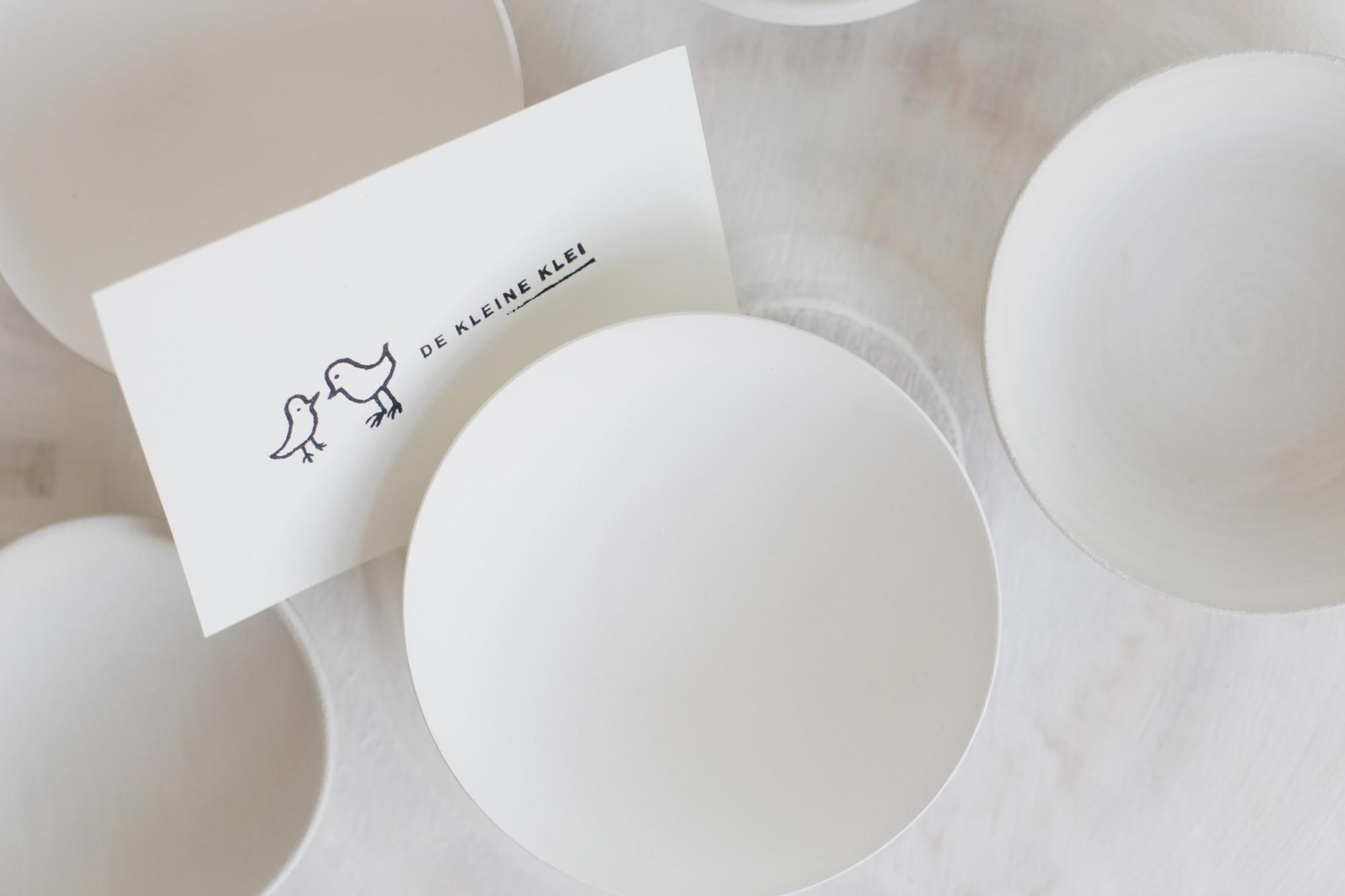 de Kleine Klei home slider wit keramiek porcelein